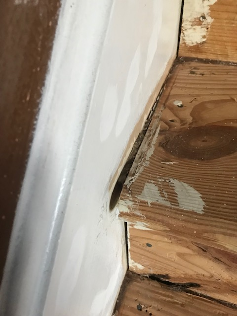 filling gaps  set  stairs carpentry diy chatroom