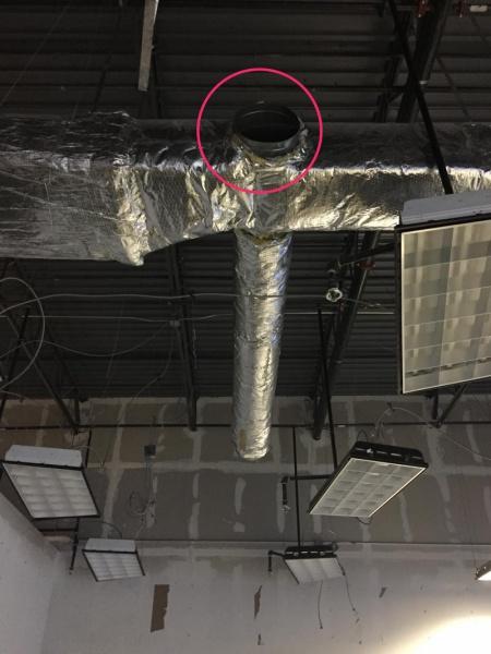 Flex Duct After Drop Ceiling Removal Hvac Diy Chatroom
