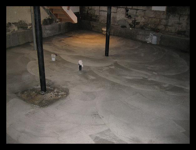 Stained Concrete Floors Basement Diy