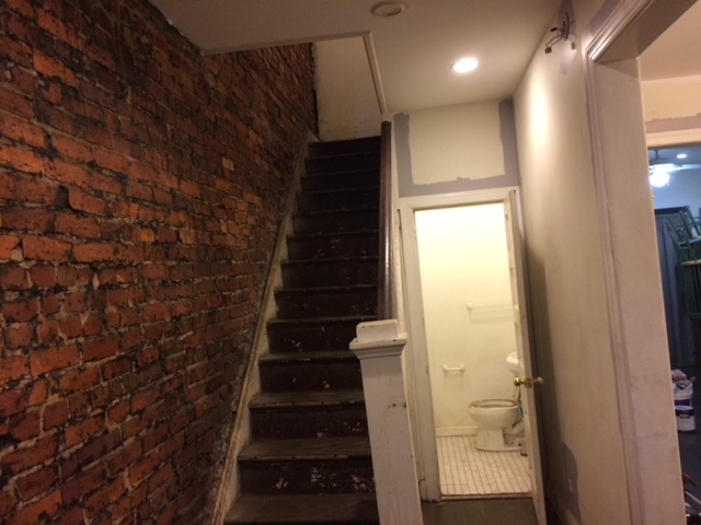 Removing tar from interior exposed brick wall concrete - Sealant for interior brick walls ...