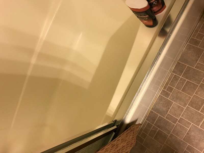 Water Pooling On Bottom Track Of Sliding Door Kitchen