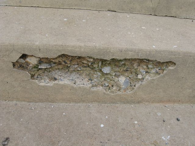 how do I seal cracks in concrete stairs and patch a hole?-img_3751.jpg