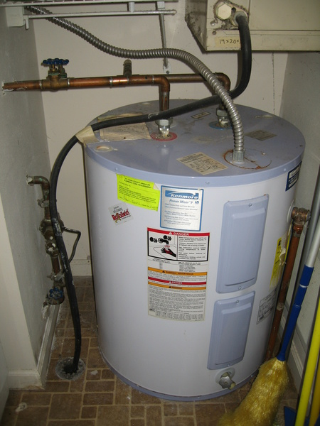 Electric hot water heater not heating