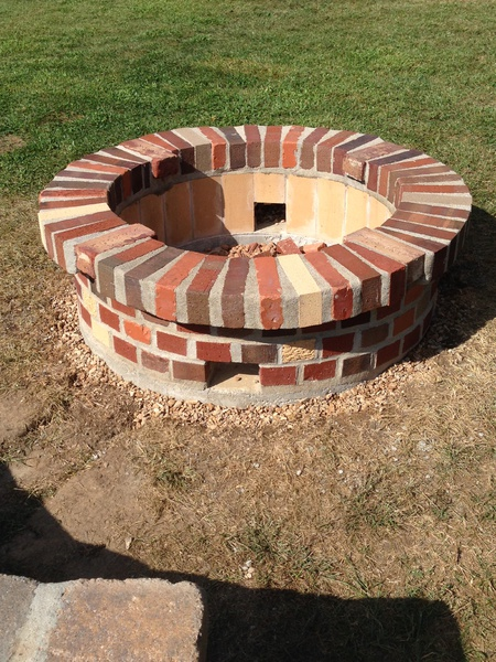 need advice fire pit brick work mortar splitting