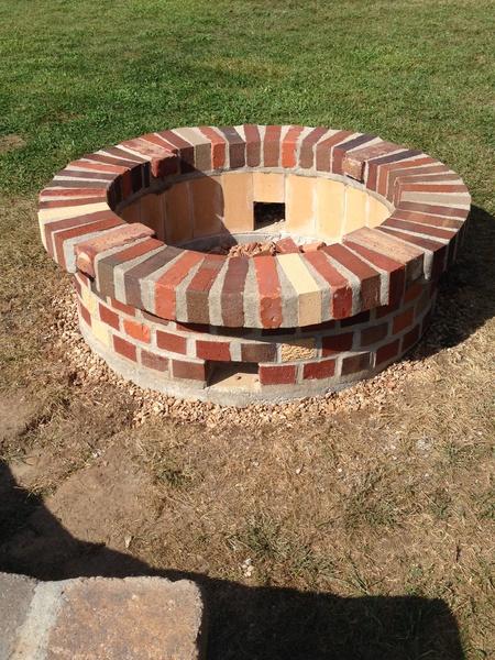 Need Advice Fire Pit Brick Work Mortar Splitting Concrete