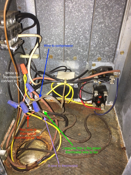 Trying To Locate Common Wire On Ruud Air Handler HVAC