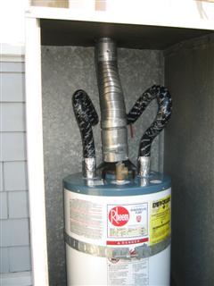 Hot Water Heater Improper Vent Pipe Danger Plumbing