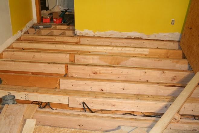 Sistering And Blocking For Tile Floor Flooring Diy