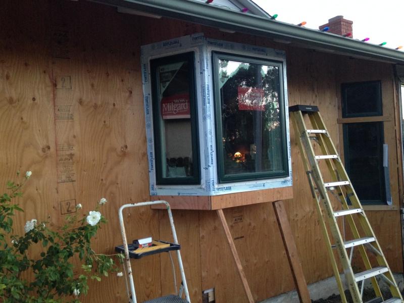 Bay Window Installation : Kitchen bay window install building construction diy