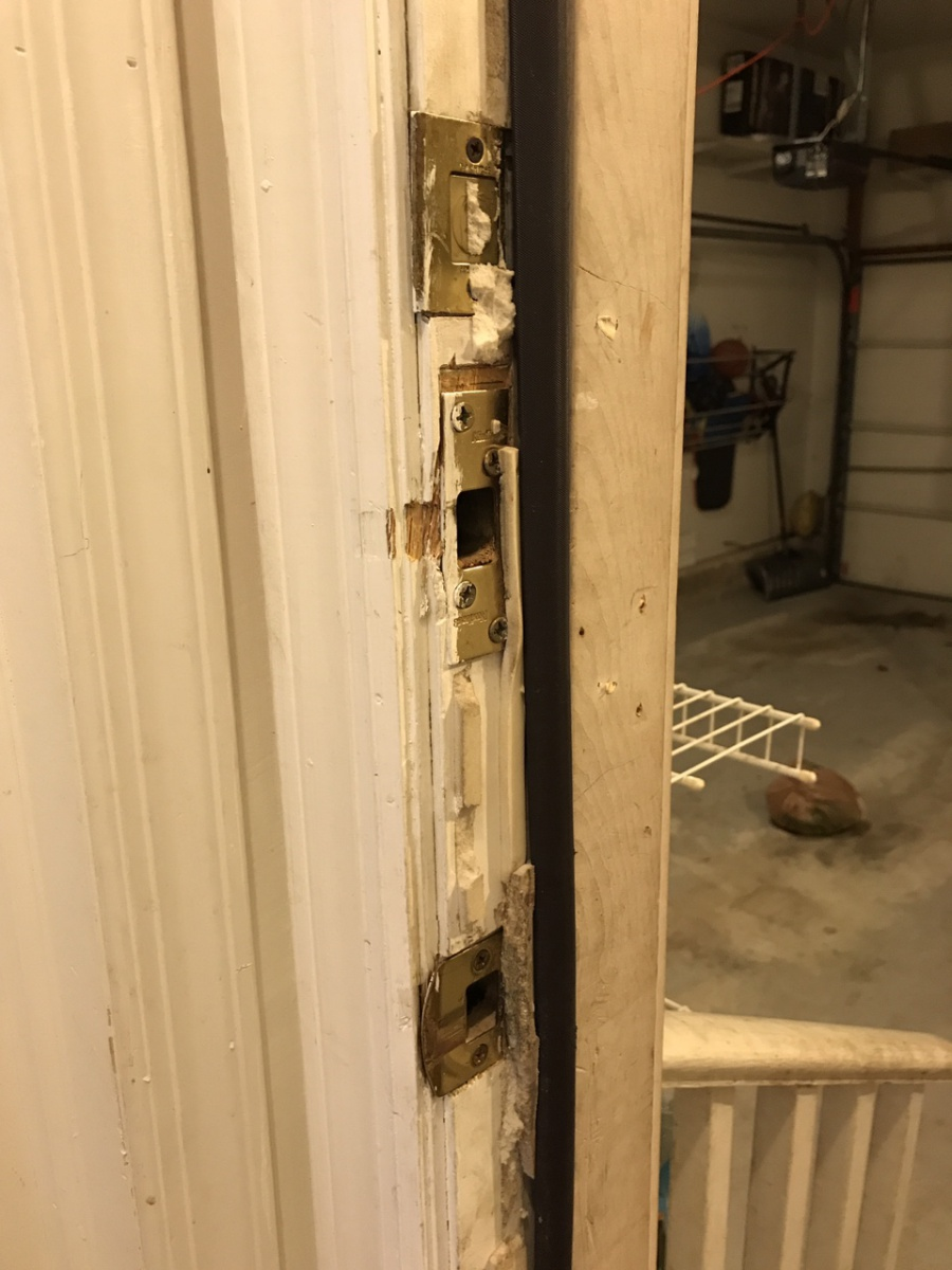 Door Not Sealing Due To Worn Out Screw Holes For Strike