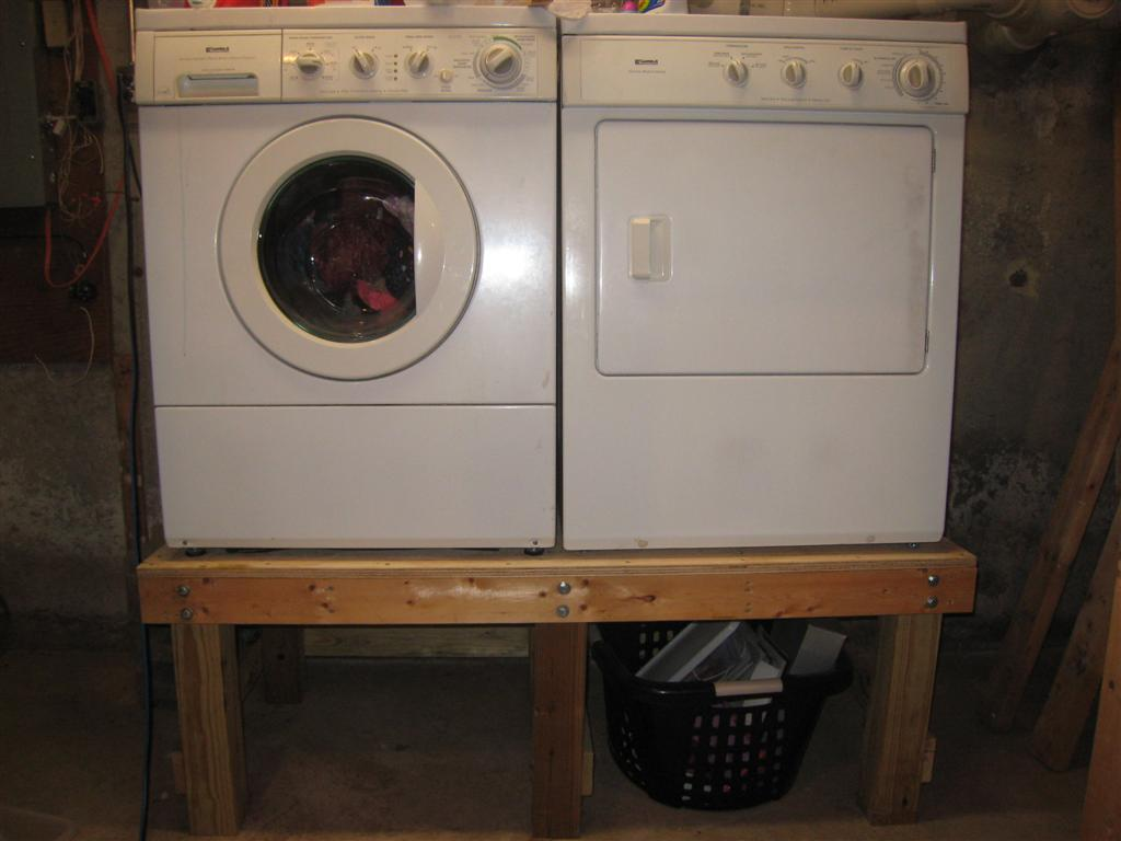 Installing Washer And Dryer In Basement Former Tub Enclosure