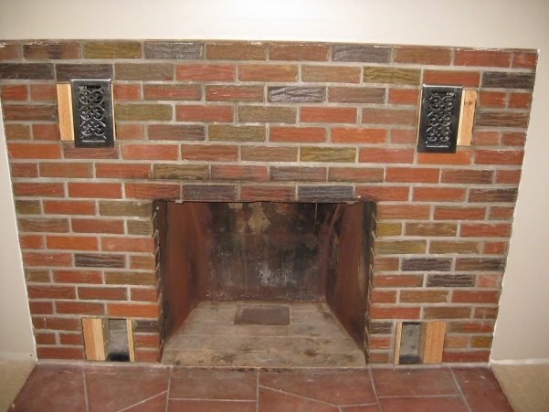 Brick fireplace re facing concrete stone masonry - How to reface a brick fireplace ...