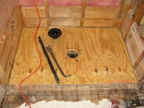 install tile shower base drain advice