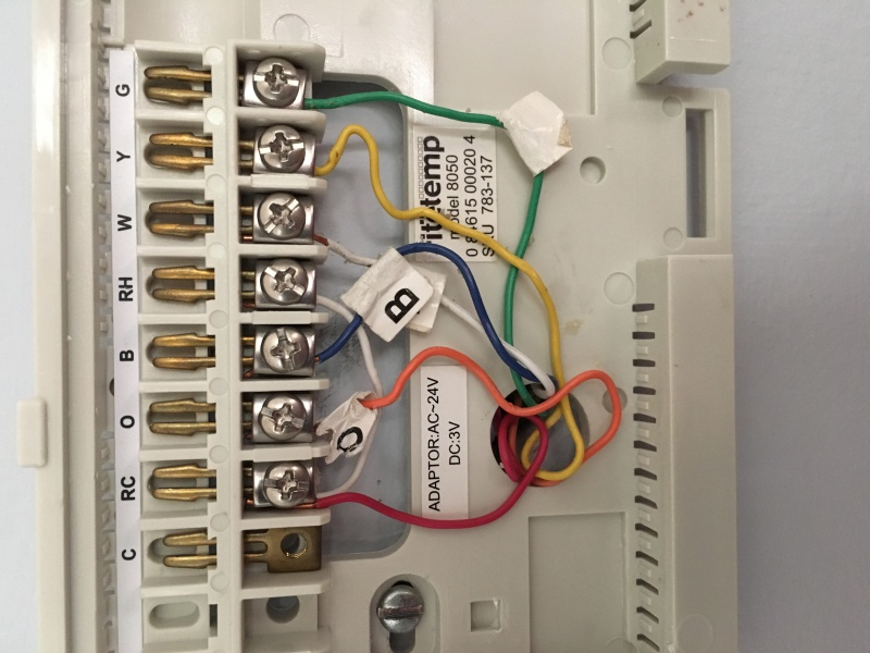 RTH8500 Wiring O And B Terminals - HVAC - DIY Chatroom Home ...