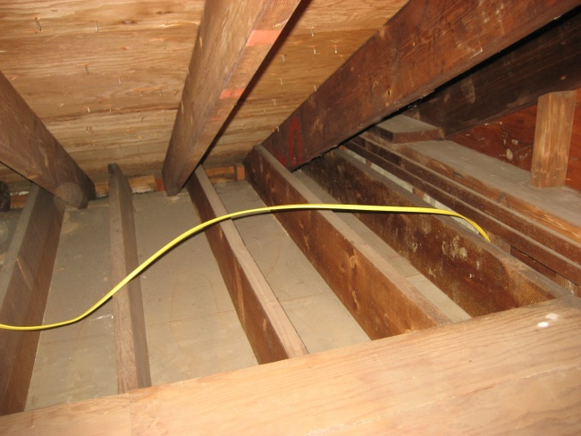 home wiring through attic house wiring an attic question on romex in attic? - electrical - diy chatroom ...