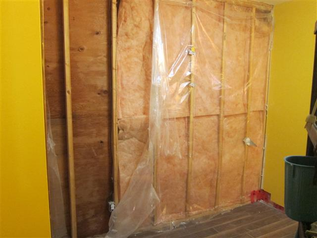 Damp Drywall Due To Improper Vapor Barrier Install