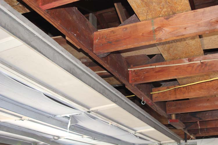Sagging Garage Ceiling Joist Building Amp Construction