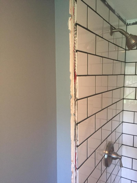 How Do I Finish Tiled Shower Tile Meets Wall Kitchen