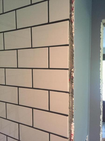 How Do I Finish Tiled Shower Tile Meets Wall Kitchen