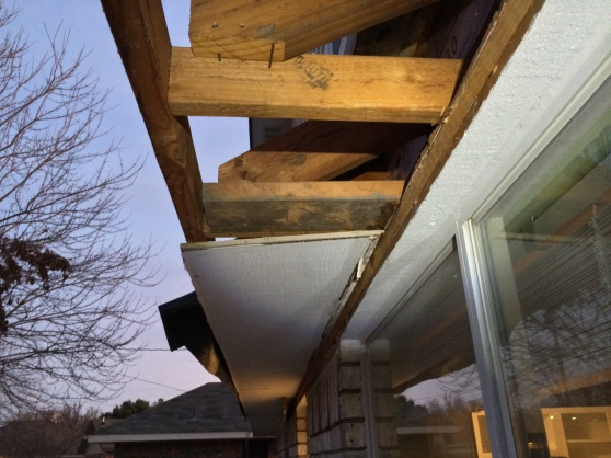 Cutting Masonite soffit flush against house-img_8345.jpg