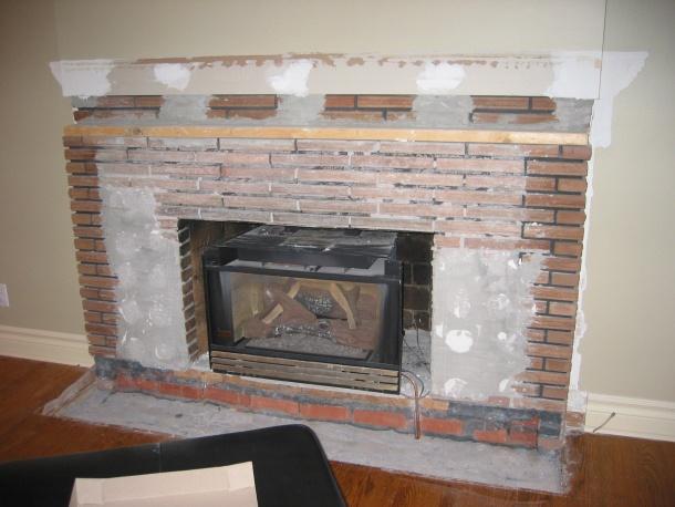 tile brick fireplace