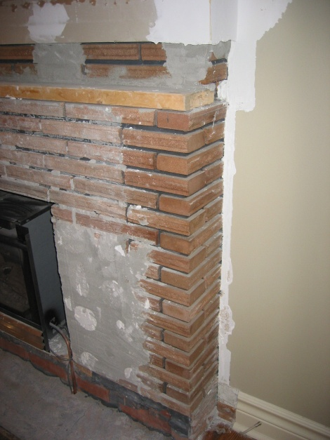 Cement Board Over Brick Fireplace General Diy