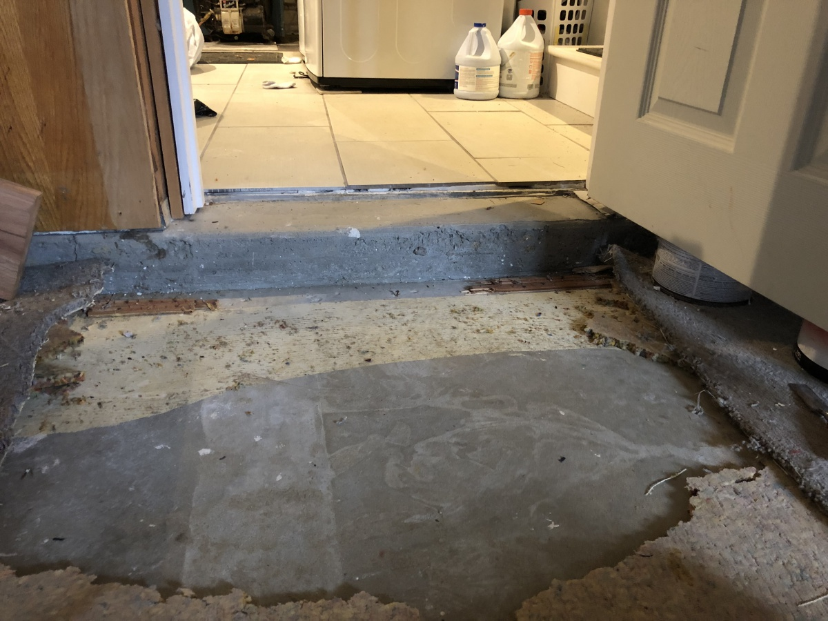 Install Basement Subfloor On Concrete Raised To Match Existing Floor Diy Home Improvement Forum