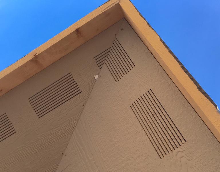 Filling In Smart Soffit Vent Slats Roofing Siding
