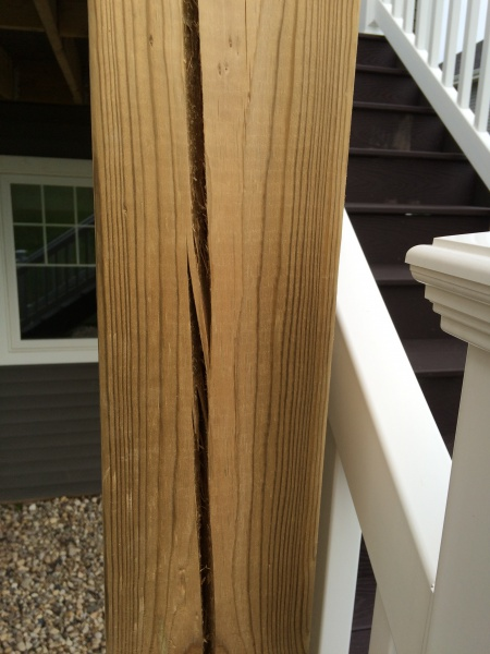 Deck Cracks On Post And More Building Amp Construction