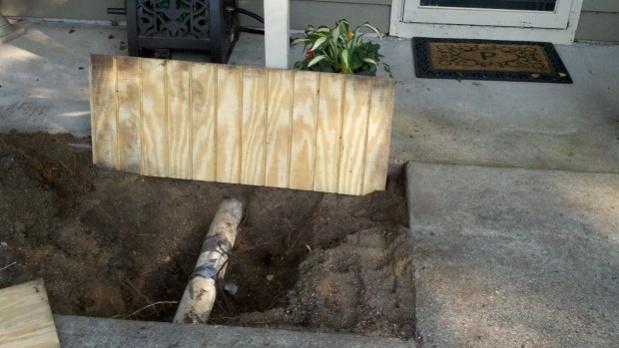 Duct tape plumbing fix-ground-location.jpg