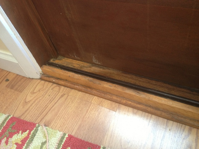 ... Salvage Or Replace Rotting Sliding Door Sill?