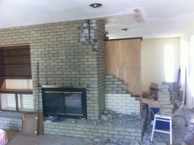 Superior Brick Fireplace Removal Part - 14: ... Chimney/Fireplace Removal-interior-north-02.jpg
