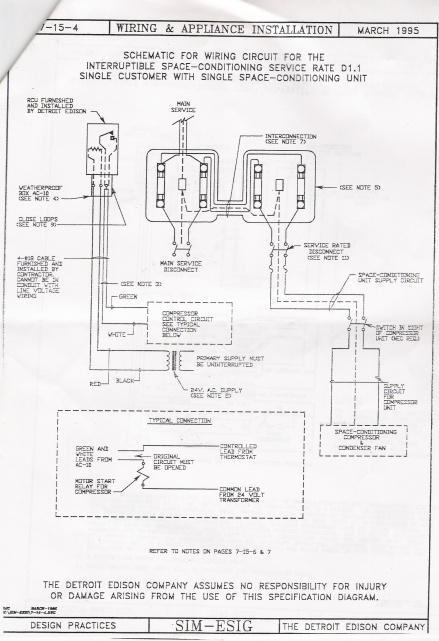 a  c low voltage hook up for a secondary electric edison meter - hvac