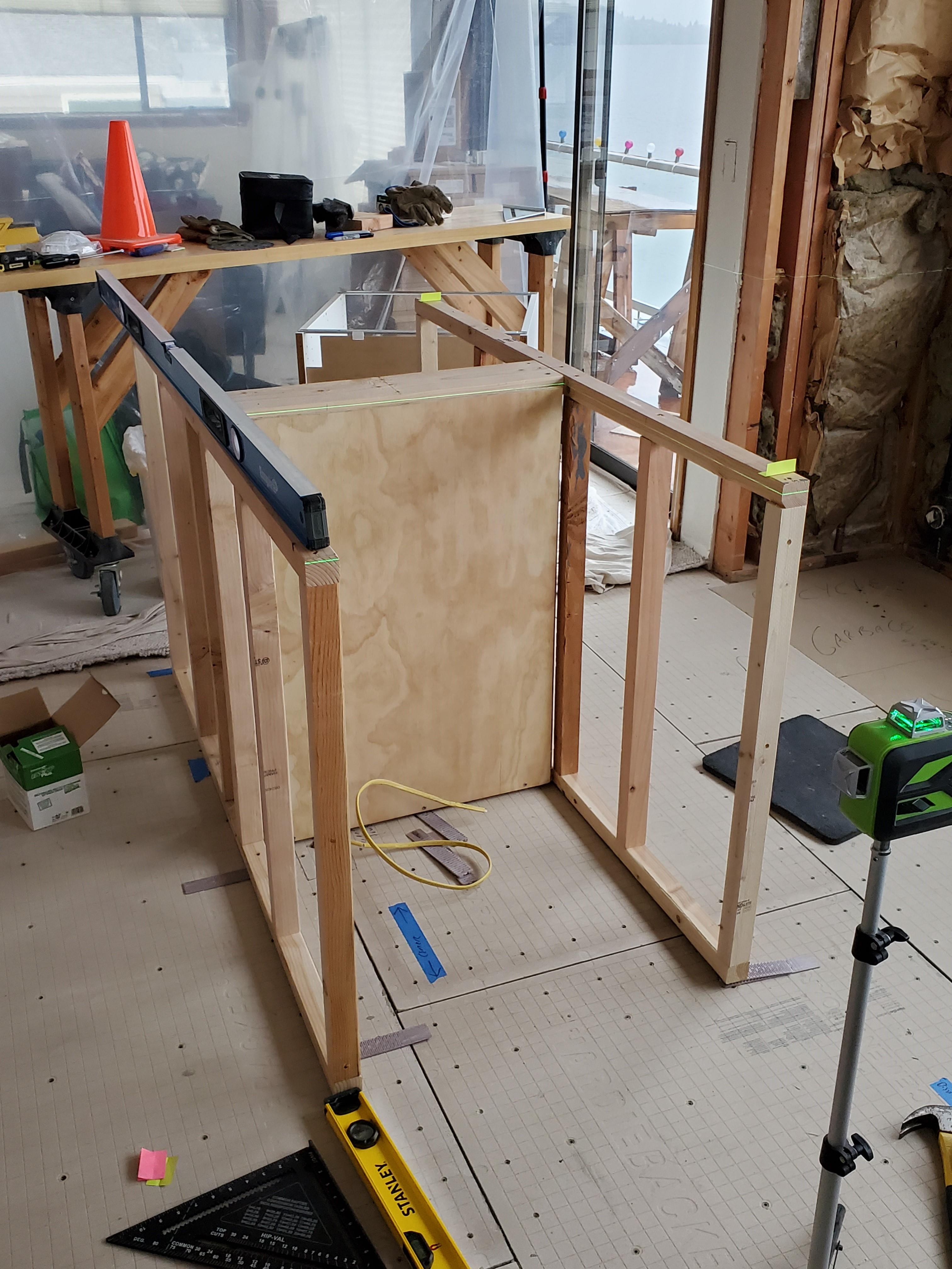 Kitchen Island on unlevel floor   DIY Home Improvement Forum