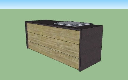Kitchen island with laminate end panels-islandfinal.jpg