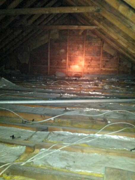 Hanging A Beam In The Attic For Joist Support Building