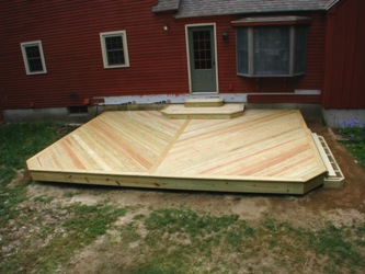 Box steps or stringer for a deck stairs building for How to build box steps