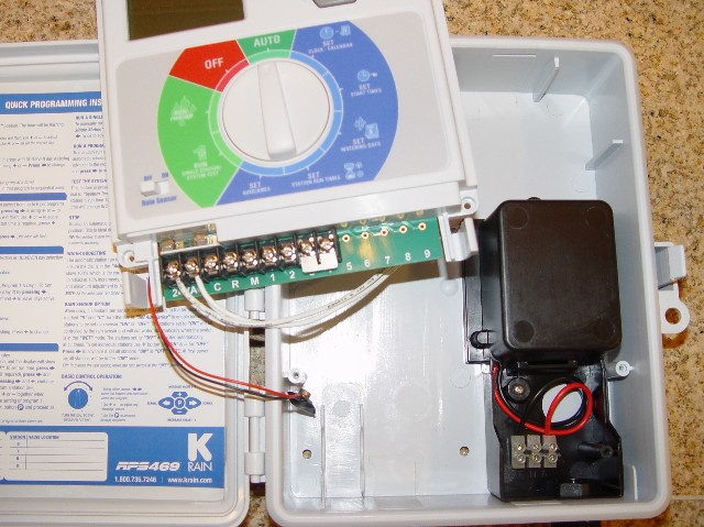 convert sprinkler controller from hardwire to plug in electrical convert sprinkler controller from hardwire to plug in k rain03 jpg