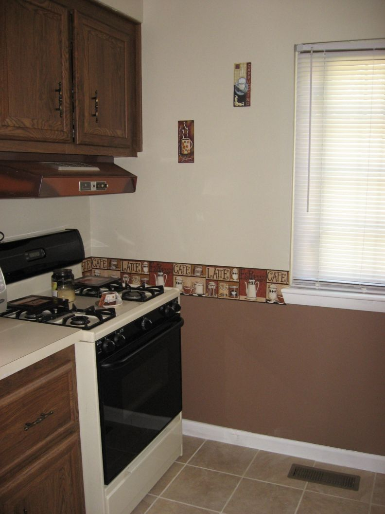 Brown painted kitchen cabinets -  Painting Kitchen Cabinets Back Wall Kitchen 002 Jpg