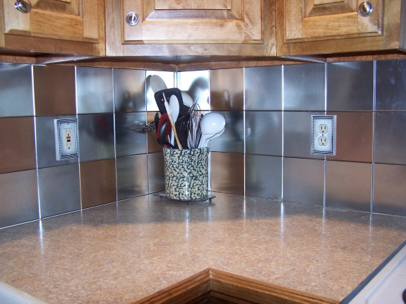 Tin Ceiling Tiles As A Kitchen Backsplash Diy Home Improvement Forum