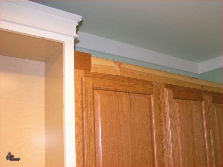 attractive How To Put Crown Molding On Kitchen Cabinets #6: Adding Crown Molding on Kitchen Cabinets-kitchen-cabinet-cornice1.jpg ...
