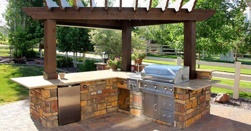 Pergola On Existing BBQ Island - Building & Construction ... on Backyard Patio Grill Island id=84390