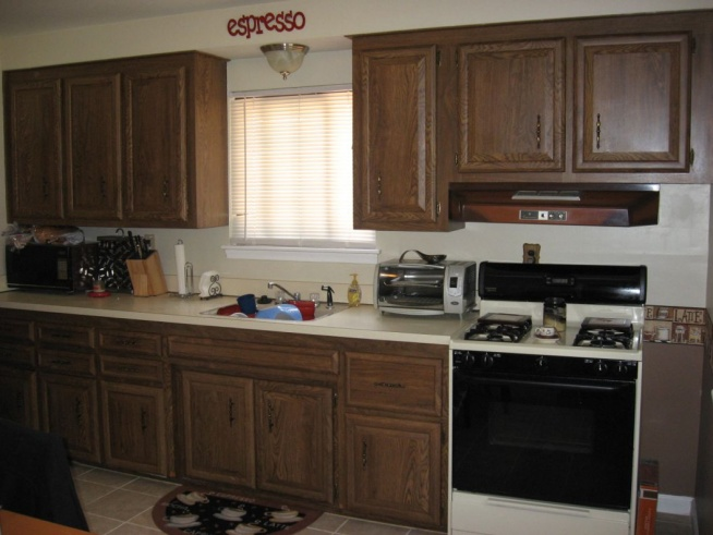 Painting Kitchen Cabinets, Back wall kitchen jpg