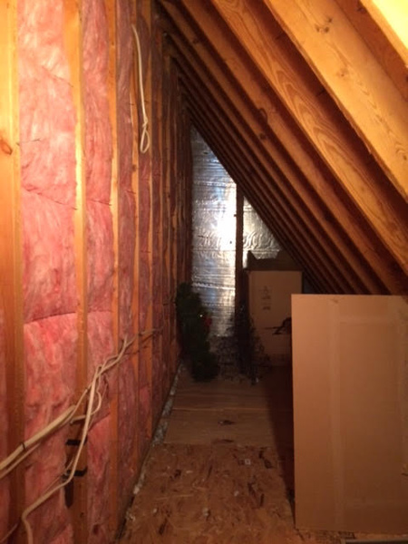 Attic Knee Wall And Floor Joist Insulation Insulation