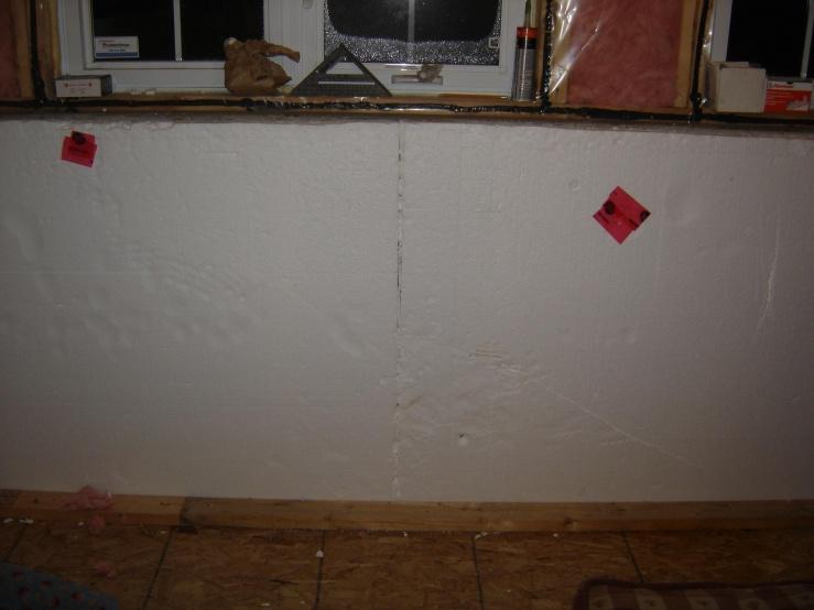 Knee Wall In Basement Of Split Level Building