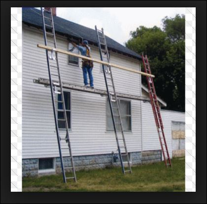 Scaffolding For Tower Stucco Job - Roofing/Siding - DIY Home