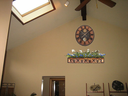 ideas for walls with cathedral ceilings interior