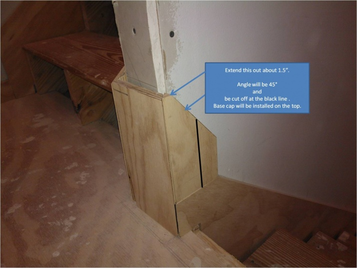 How To Transition From Stair Skirt Board To Base Board? Landing Skirt