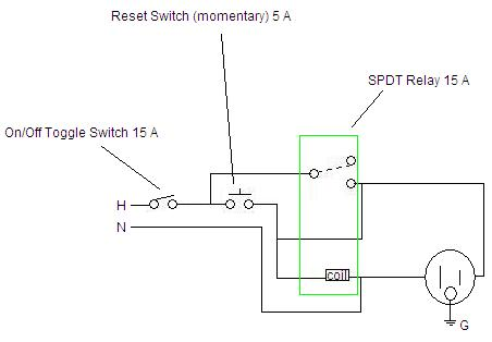 Fail Safe Power Outlet Need Schematic - Electrical - DIY ... Outlet Schematic on