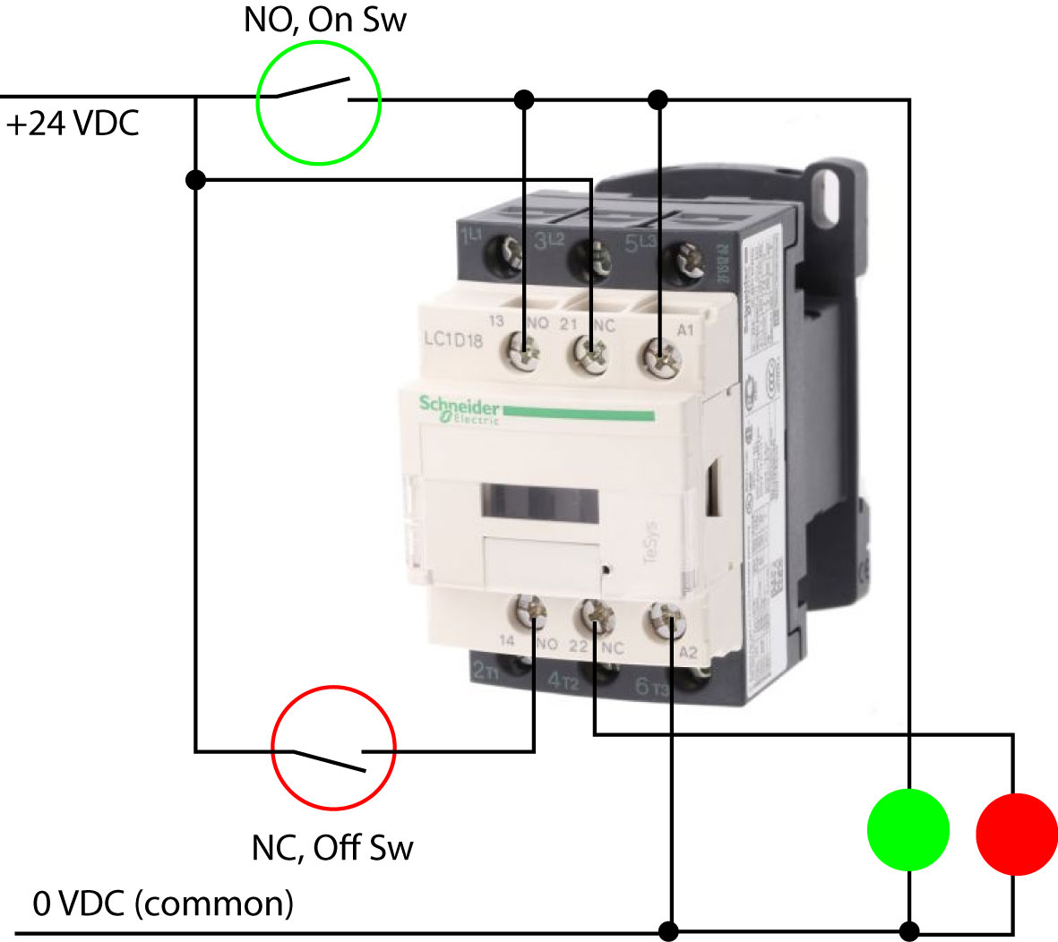 Contactor Wiring - Electrical